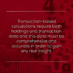 Transaction vs holdings based performance calculations - quote