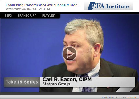 Carl Bacon CFA video